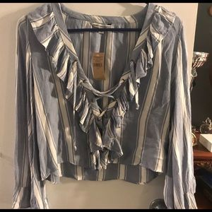 American Eagle women's S NWT hippie shirt stripes